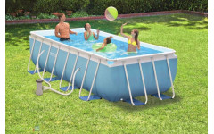 Каркасный бассейн для дома 400х200х100см + фильтр-насос + лестница Intex 28316